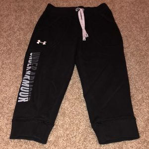 Under Armour black cropped joggers